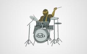 Обои минимализм, барабаны, GK media, Grigory Karaman, CherepashkiBeat