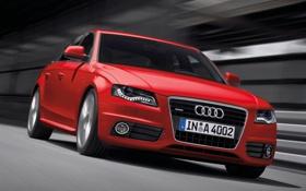 Картинка car, красный, ауди, обоя, скорость, red, спорткар