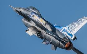 Картинка полет, истребитель, F-16, Fighting Falcon, многоцелевой