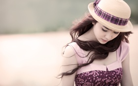 Картинка платье, eyelashes, девушка, wind, волосы, ветер. girl, dress
