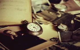 Обои старина, ретро, часы, фотографии