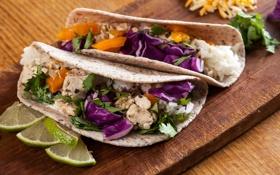 Обои food, fast food, ingredients, tacos