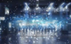 Картинка капли, дождь, надпись, rainy day