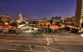 Картинка ночь, огни, калифорния, night, Los Angeles, California, usa