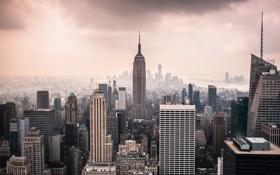 Картинка город, Нью-Йорк, США, Манхэттен, Нью Йорк, New York City, Empire State Building