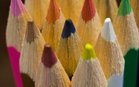 Картинка цвета, карандаши, грифель