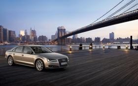 Обои город, Audi, мост, машины