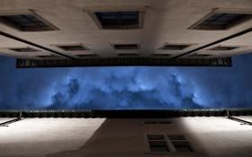 Картинка небо, ночь, город, дома