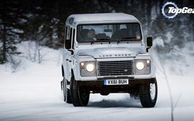 Обои Top Gear, дрифт, Land Rover, самая лучшая телепередача, высшая передача, топ гир, Defender