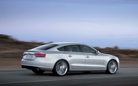 Обои Audi, Silver, A5 Sportback