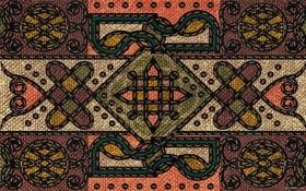 Обои ковёр, тибетский, плетёный