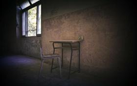 Картинка стол, окно, стул