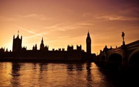 Картинка Англия, Лондон, London, England, Thames, Big Ben, River