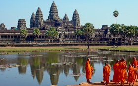 Обои храм, Камбоджа, древние цивилизации, Ангкор-Ват, Temple Angkor Wat
