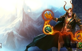 Картинка горы, бог, fan art, loki, Heroes of Newerth, Corrupted Disciple