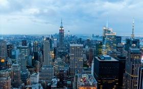 Картинка США, город, city, Нью-Йорк, New York, USA