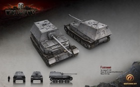 Картинка Германия, танк, танки, рендер, WoT, World of Tanks, Ferdinand