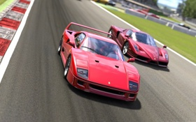 Обои cars, and, Ferrari, F40, авто, тачки, Enzo