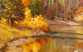 Обои арт, Sean Wallis, Tony Grove Lake