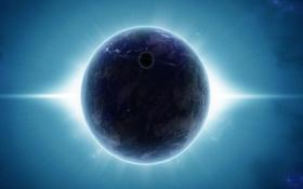 Обои звезды, земля, планета