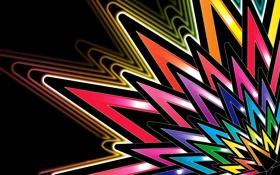 Обои обои, звезда, абстракция, лепестки, лучи, радуга, цвет
