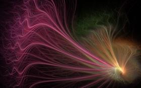 Картинка абстракция, линии, цвет