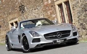 Картинка авто, тюнинг, Mercedes-Benz, мерседес, AMG, SLS, Borrasca