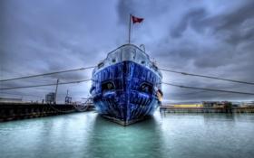 Картинка корабль, флаг, порт