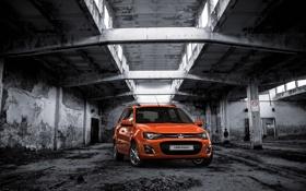 Картинка фон, настроение, обои, рыжая, автомобиль, Lada, новинка