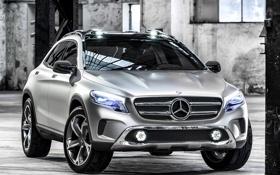 Обои фары, автомобиль, GLA, передок, Concept, большой, Mercedes-Benz