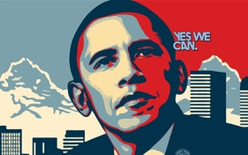 Обои art, boston, obama, yas we can, shepard fairey