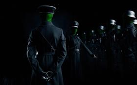 Обои оружие, солдаты, шинель, построение, офицеры