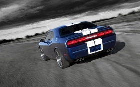 Картинка Dodge, SRT8, Challenger, blue, передняя часть, 392, Inaugural Edition