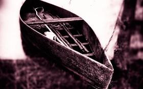 Обои фото, лодка, размытие