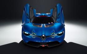 Обои Concept, двери, концепт, Renault, полумрак, Рено, передок