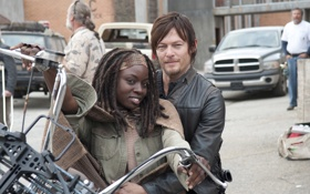 Картинка Norman Reedus, Дэрил Диксон, Данай Гурира, Danai Gurira, Michonne, Daryl Dixon, The Walking Dead