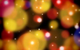 Обои абстракция, цветная, шары