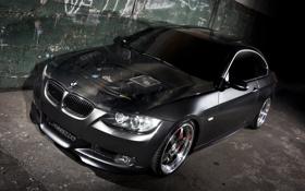 Обои черный, bmw, бмв, автомобиль, 335i, трешка