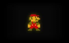 Картинка марио, пиксели, mario, водопроводчик