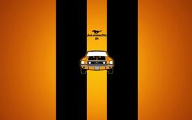 Обои машина, желтый, ford mustangGT, полоски