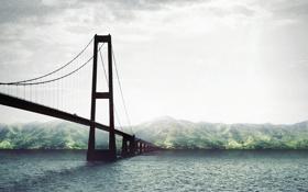 Картинка океан, остров, Мост, тропический