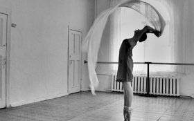 Картинка ткань, девушка, балерина