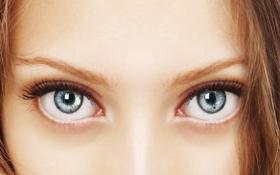 Обои woman, eyes, look