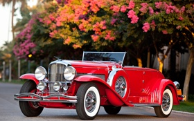 Обои красный, ретро, купе, кабриолет, Coupe, 1932, красивая машина