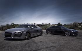 Обои серый, чёрный, ауди, audi, купе, седан, black