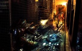 Обои город, война, роботы, PreciousGift