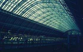Обои вокзал, лондон, станция, london, перон, skyofca, st. pancras station