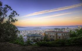 Картинка Alcatraz Island, Калифорния, California, usa, Сан-Франциско, San Francisco, sunset