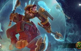 Обои девушка, робот, Heroes of Newerth, moba, Moraxus, Axia