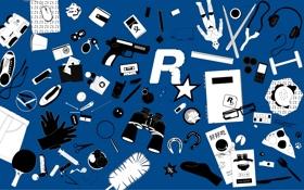 Обои Rockstar North, синий, блеять, цвет